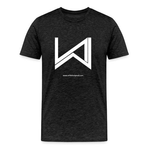 T-Shirt Wild Shot Production Gris Foncé Logo Blanc - T-shirt Premium Homme