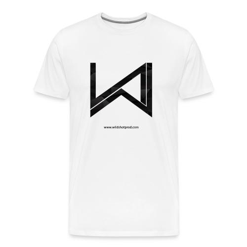 T-Shirt Wild Shot Production Blanc Logo Noir - T-shirt Premium Homme