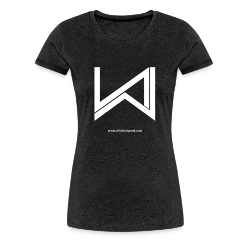 T-Shirt Wild Shot Production Femme Gris Foncé Logo Blanc - T-shirt Premium Femme