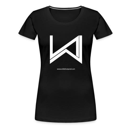 T-Shirt Wild Shot Production Femme Noir Logo Blanc - T-shirt Premium Femme