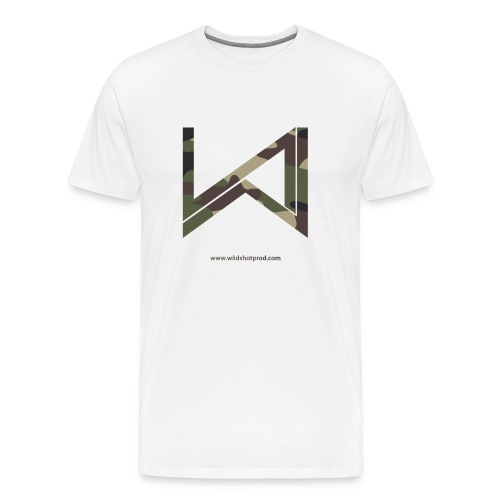 T-Shirt Wild Shot Production Blanc Logo Militaire - T-shirt Premium Homme