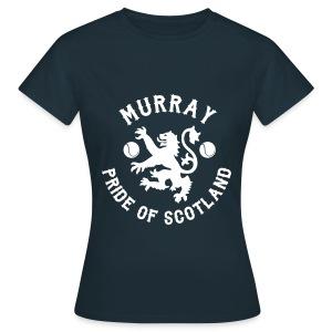 Murray - Scottish Pride. Ladies T Shirt. Navy. - Women's T-Shirt