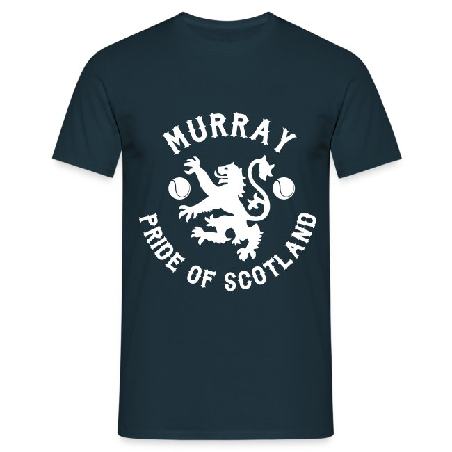 Murray - Scottish Pride. Mens T Shirt. Navy.