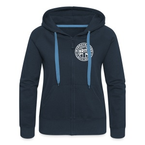 Murray - Scottish Pride. Ladies Premium Hoodie Zip-up. Navy. - Women's Premium Hooded Jacket