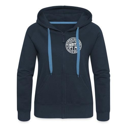 Murray - Scottish Pride. Ladies Premium Hoodie Zip-up. Navy. - Women's Premium Hooded Jacket