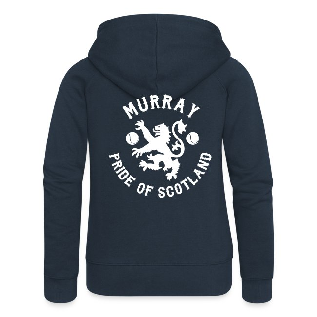 Murray - Scottish Pride. Ladies Premium Hoodie Zip-up. Navy.