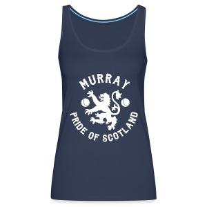Murray - Scottish Pride. Ladies Navy Vest. - Women's Premium Tank Top