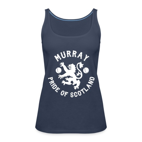 Murray - Scottish Pride. Ladies Navy Vest. - Women's Premium Tank Top