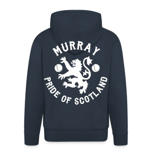 Murray - Scottish Pride. Mens Premium Hoodie Zip-up. Navy. - Men's Premium Hooded Jacket