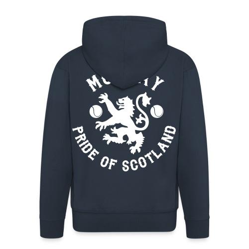 Murray - Scottish Pride. Mens Premium Hoodie Zip-up. Navy. - Men's Premium Hooded Jacket