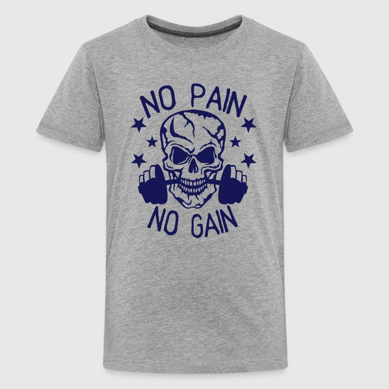 no pain gain bodybuilding musculation Tee shirts - T-shirt Premium Ado