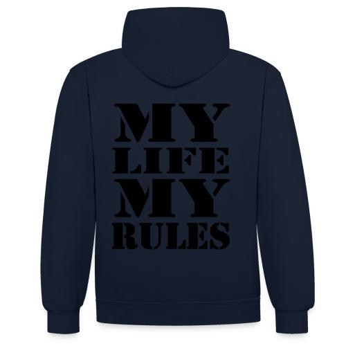 My Life My Rules Huppari - Kontrastihuppari