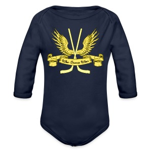 Who Scores Wins Baby One Piece - Organic Longsleeve Baby Bodysuit