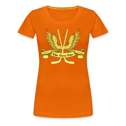 Who Scores Wins Women's Premium T-Shirt - Women's Premium T-Shirt