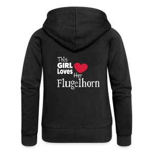 This Girl Loves Her Flugelhorn - Women's Premium Hooded Jacket