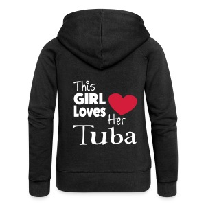 This Girl Loves Her Tuba - Women's Premium Hooded Jacket