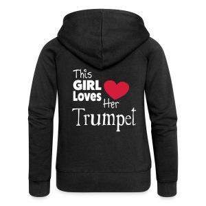 This Girl Loves Her Trumpet - Women's Premium Hooded Jacket