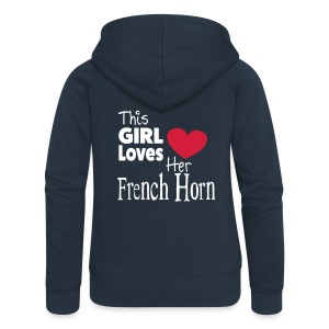 This Girl Loves Her French Horn - Women's Premium Hooded Jacket