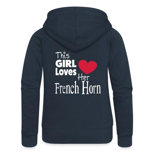 This Girl Loves Her French Horn - Women's Premium Hooded Jacket