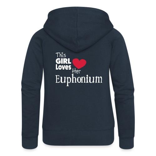 This Girl Loves Her Euphonium - Women's Premium Hooded Jacket