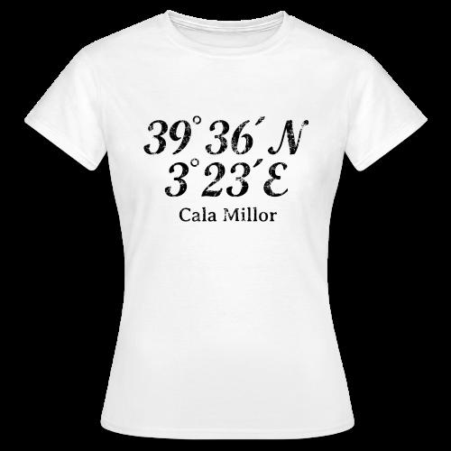 Cala Millor Koordinaten Vintage Schwarz T-Shirt - Frauen T-Shirt