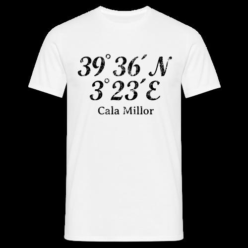 Cala Millor Koordinaten Vintage Schwarz T-Shirt - Männer T-Shirt