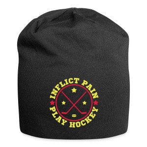 Inflict Pain Play Hockey Relaxed Fit Beanie - Jersey Beanie