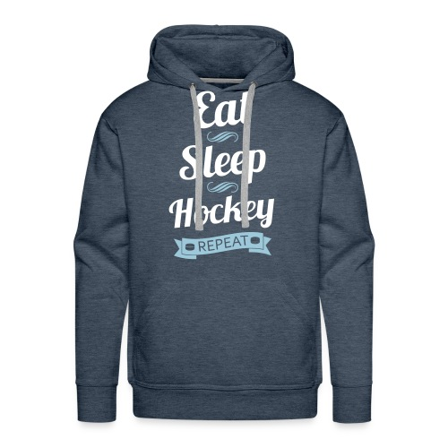 Eat, Sleep, Hockey, Repeat Men's Hoodie - Men's Premium Hoodie