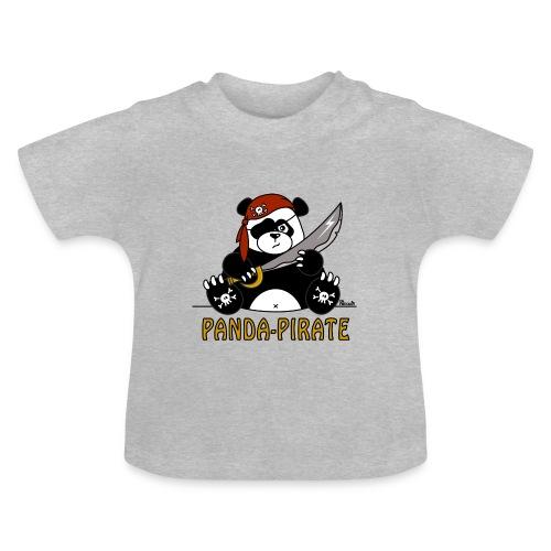 T-shirt Bébé Panda Pirate, Bandana Tête de mort, Sabre - T-shirt Bébé