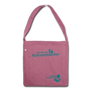 Schultertasche aus Recycling-Material Kulturentdecker - Schultertasche aus Recycling-Material