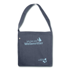 Schultertasche aus Recycling-Material Wellenritter - Schultertasche aus Recycling-Material