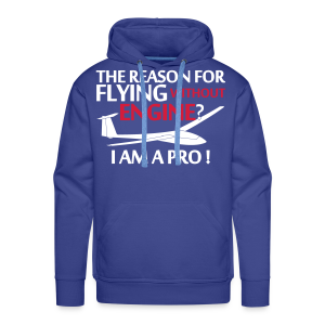 flying without engine - Männer Premium Hoodie