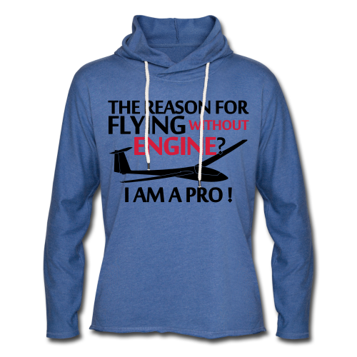 flying without engine - Leichtes Kapuzensweatshirt Unisex