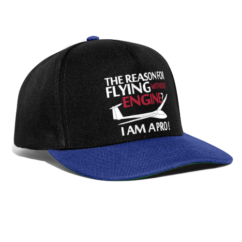 flying without engine - Snapback Cap