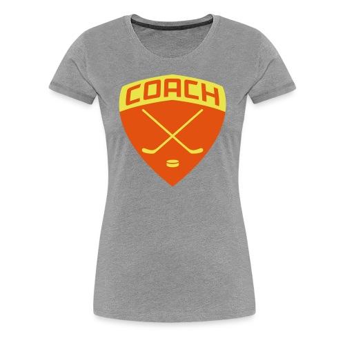Ice Hockey Coach Women's Premium T-Shirt - Women's Premium T-Shirt