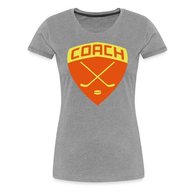 Ice Hockey Coach Women's Premium T-Shirt