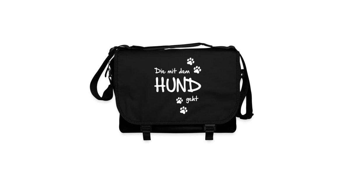 hunde fanshop t shirts und geschenke f r hundefreunde umh ngetasche die mit dem hund geht. Black Bedroom Furniture Sets. Home Design Ideas