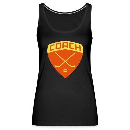 Ice Hockey Coach Women's Vest Top - Women's Premium Tank Top