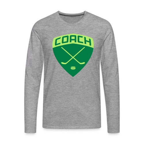 Ice Hockey Coach Men's Long Sleeve T-Shirt - Men's Premium Longsleeve Shirt