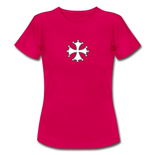 T-Shirt F Croix Occitane verte/blanche - T-shirt Femme