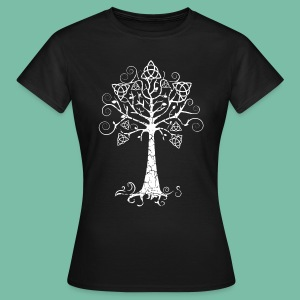 T-shirt femme Arbre Phare blanc Brocéliande Spirit - T-shirt Femme