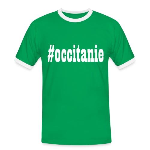 T-shirt Rétro Homme #occitanie - T-shirt contrasté Homme