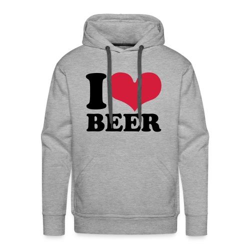 I LOVE BEER - Männer Premium Hoodie