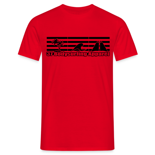 Bodysurfing Roots Shirt Red - Men's T-Shirt