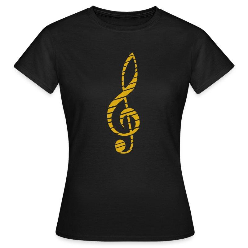 Goldenes Musik Schlüssel Symbol - Women's T-Shirt