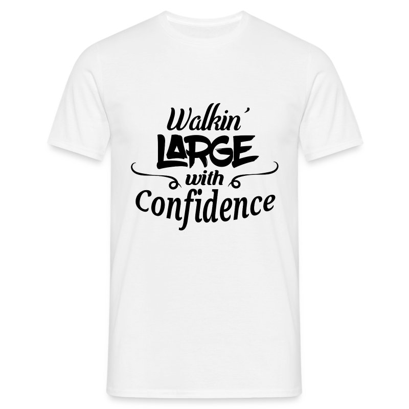 walkinlargeblack.png - Men's T-Shirt