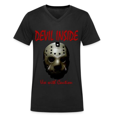 T-shirt Homme Devil Inside - T-shirt bio col V Stanley & Stella Homme