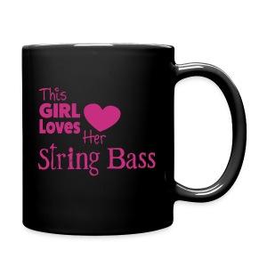 This Girl Loves Her String Bass, Mug - Full Colour Mug