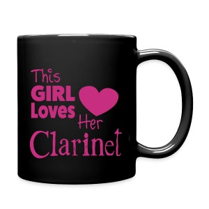 This Girl Loves Her Clarinet, Mug - Full Colour Mug