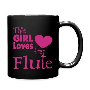 This Girl Loves Her Flute, Mug - Full Colour Mug